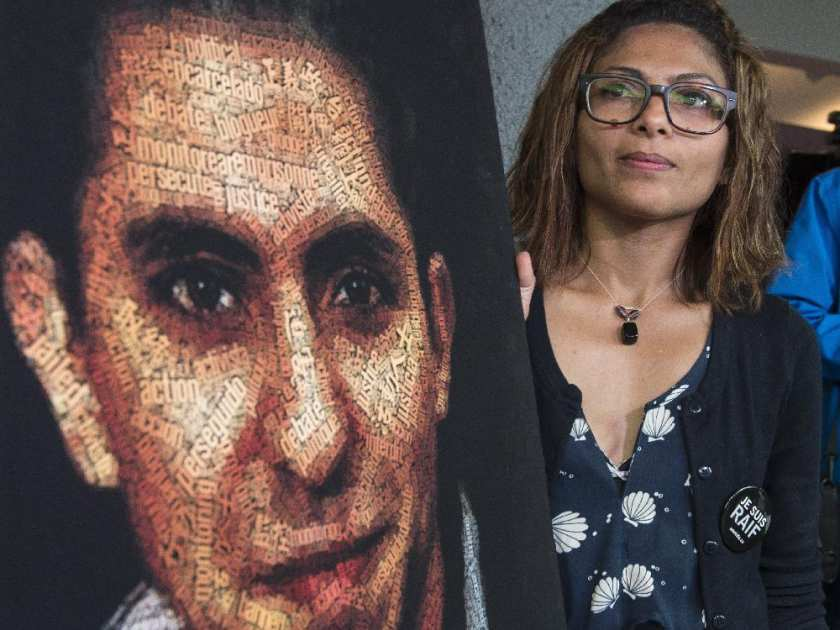 Wife of Saudi blogger Raif Badawi says he is on hunger strike in prison