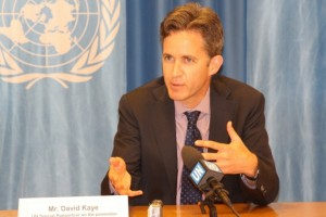 United Nations special rapporteur on freedom of opinion and expression David Kaye in Geneva on June 18, 2015. (Photo: © Peter Kenny / Ecumenical News)