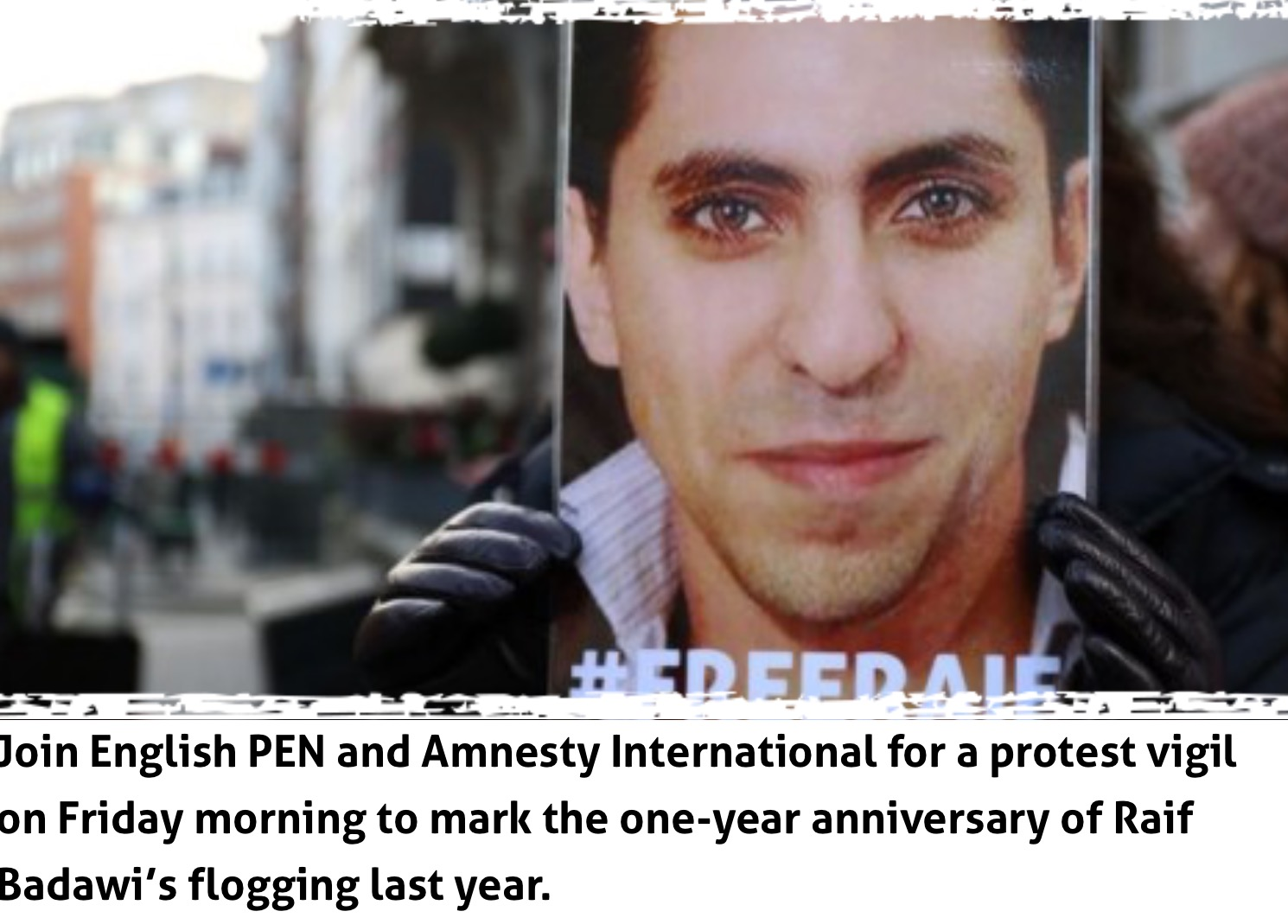 Vigil for Raif Badawi and Waleed Abulkhair