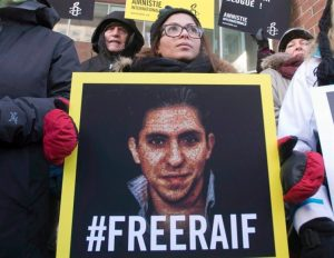 Saudi Arabia has postponed a planned flogging of blogger Raif Badawi for a fifth consecutive week, according to a report from Amnesty International. Ensaf Haidar, wife of blogger Raif Badawi, takes part in a rally for his freedom, Tuesday, January 13, 2015 in Montreal. THE CANADIAN PRESS/Ryan Remiorz - See more at: http://www.princegeorgecitizen.com/news/a-list-of-canadians-who-ran-into-trouble-abroad-in-2016-1.4405000#sthash.sScH4LXo.dpuf